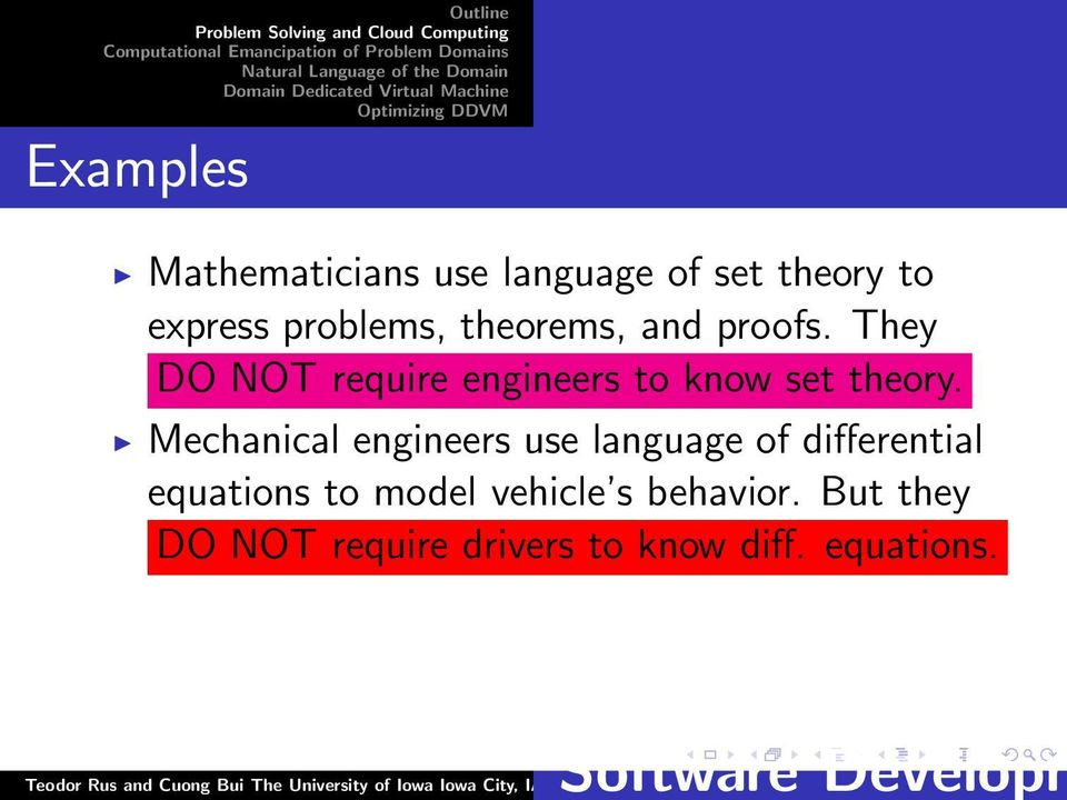 Mechanical engineers use language of differential equations to model