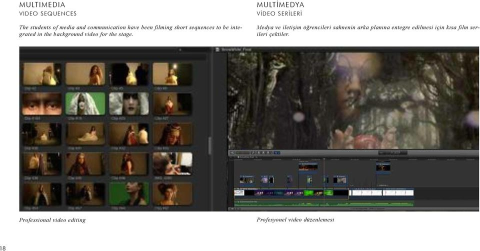 sequences to be integrated in the background video