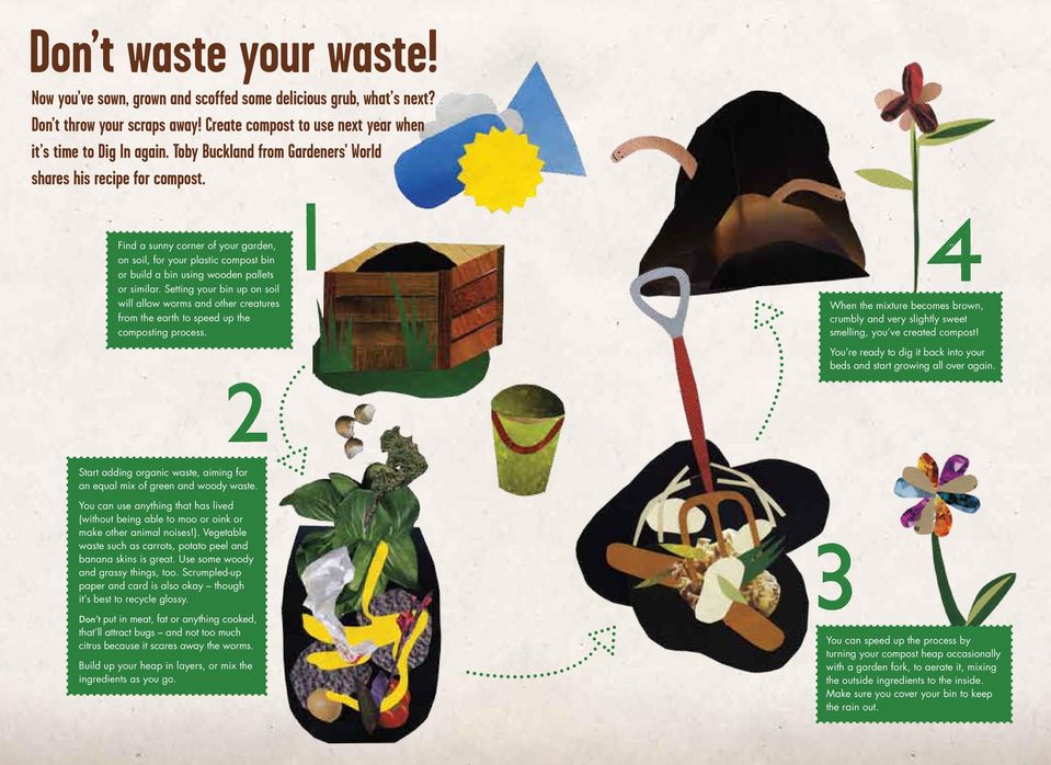 Setting your bin up on soil will allow worms and other creatures from the earth to speed up the composting process.