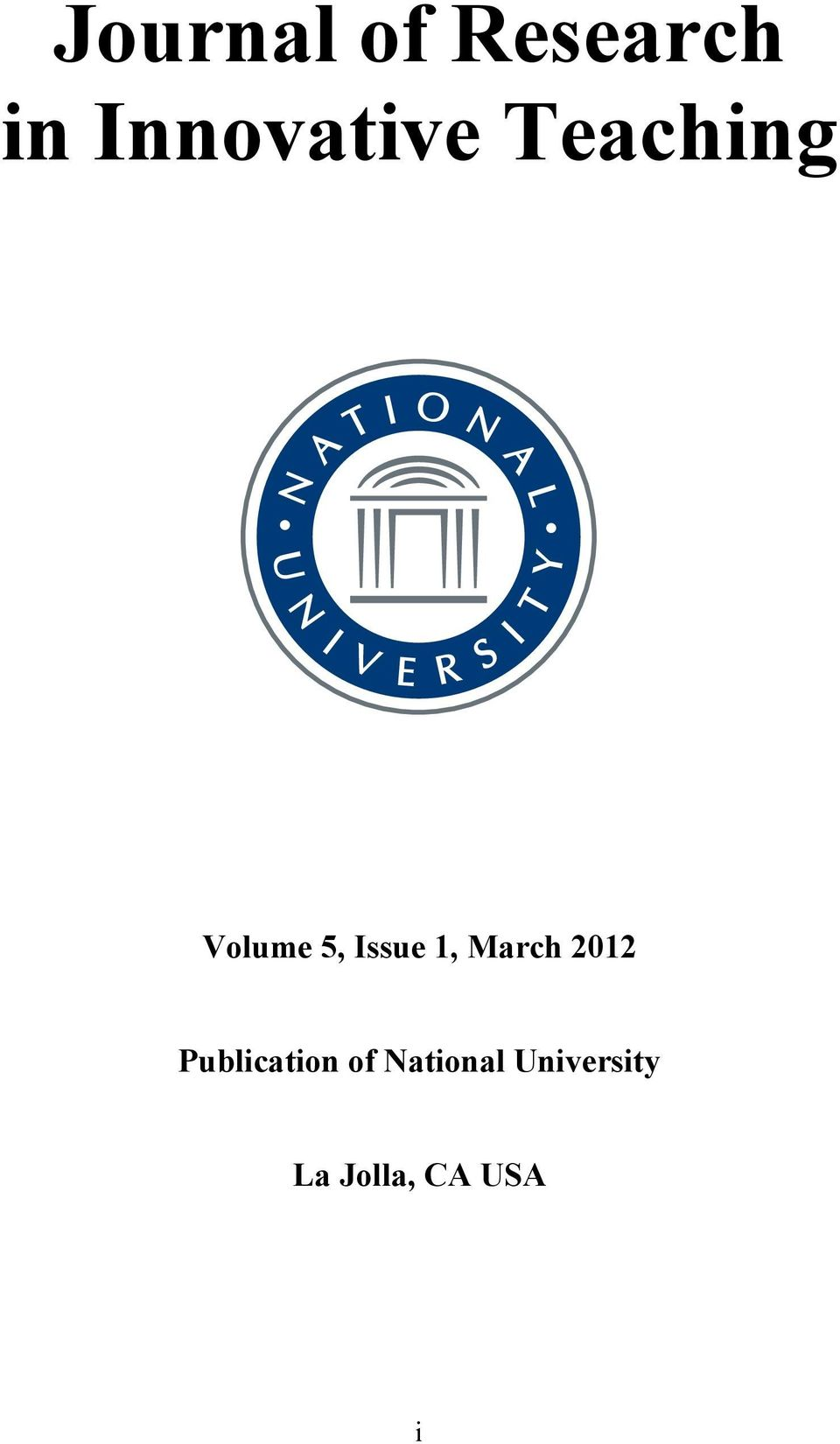 Issue 1, March 2012 Publication
