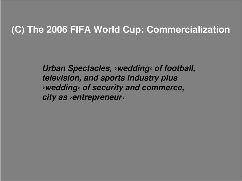 of football, television, and sports industry