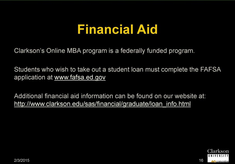 application at www.fafsa.ed.