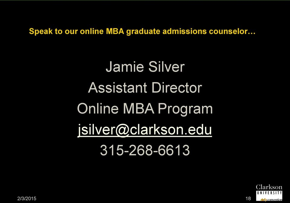 Assistant Director Online MBA Program