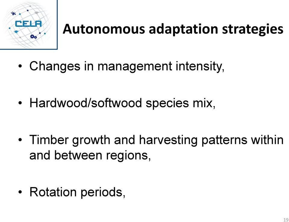 species mix, Timber growth and harvesting