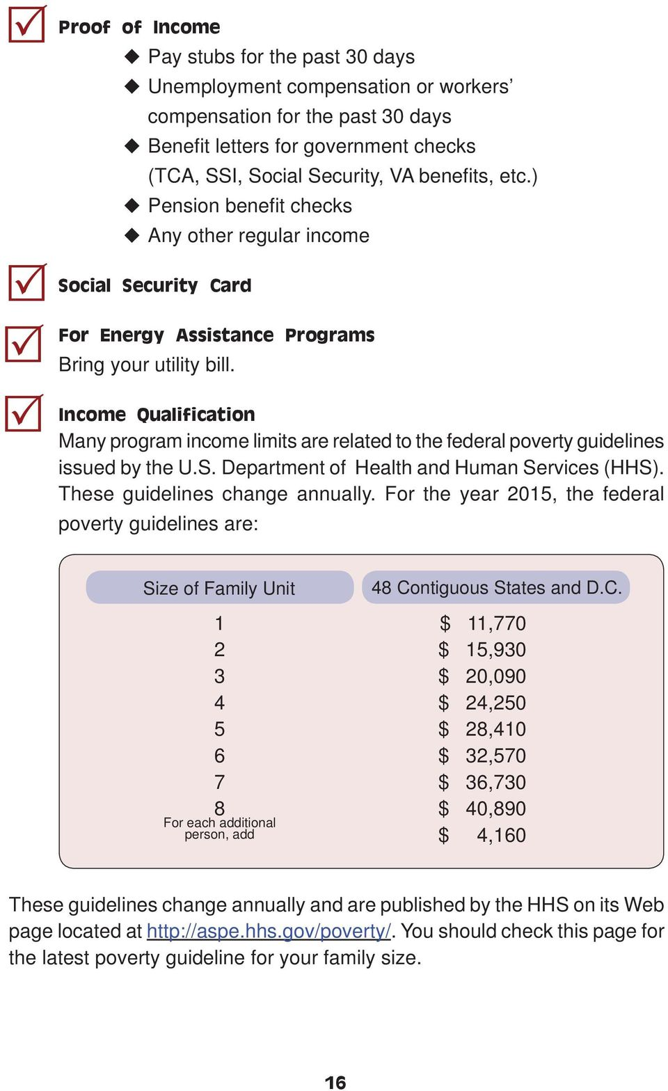 Income Qualification Many program income limits are related to the federal poverty guidelines issued by the U.S. Department of Health and Human Services (HHS). These guidelines change annually.