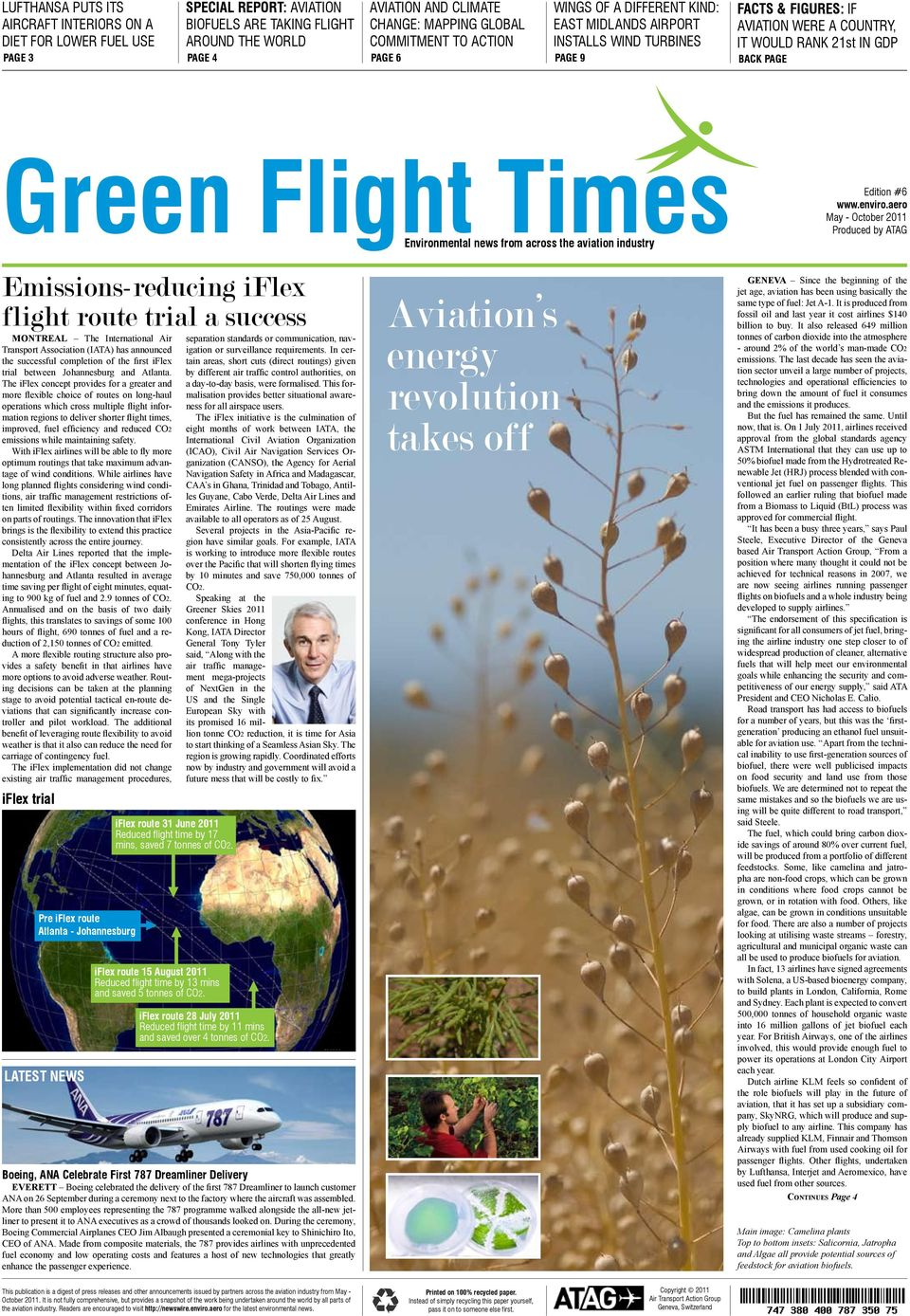 Environmental news from across the aviation industry Edition #6 www.enviro.