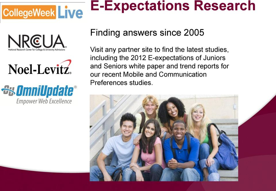 E-expectations of Juniors and Seniors white paper and trend
