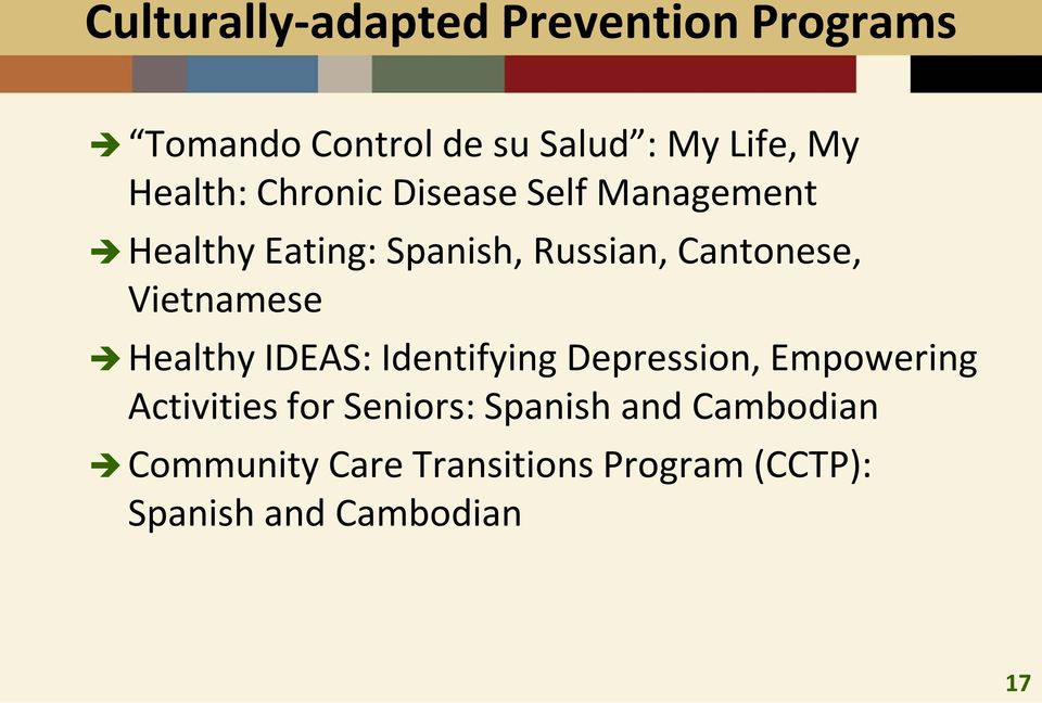 Vietnamese Healthy IDEAS: Identifying Depression, Empowering Activities for Seniors:
