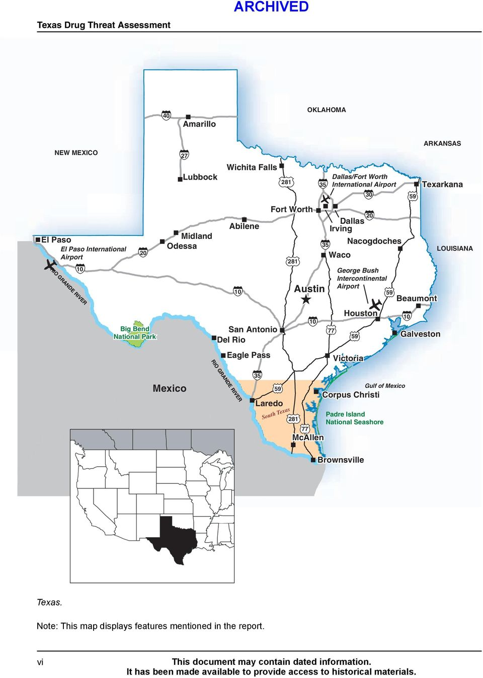 59 ER IV R 10 20 Nacogdoches 35 20 Houston 10 Big Bend National Park 59 San Antonio Del Rio 77 10 Galveston 59 Eagle Pass Beaumont O RI Victoria GR Gulf of Mexico 59 Corpus