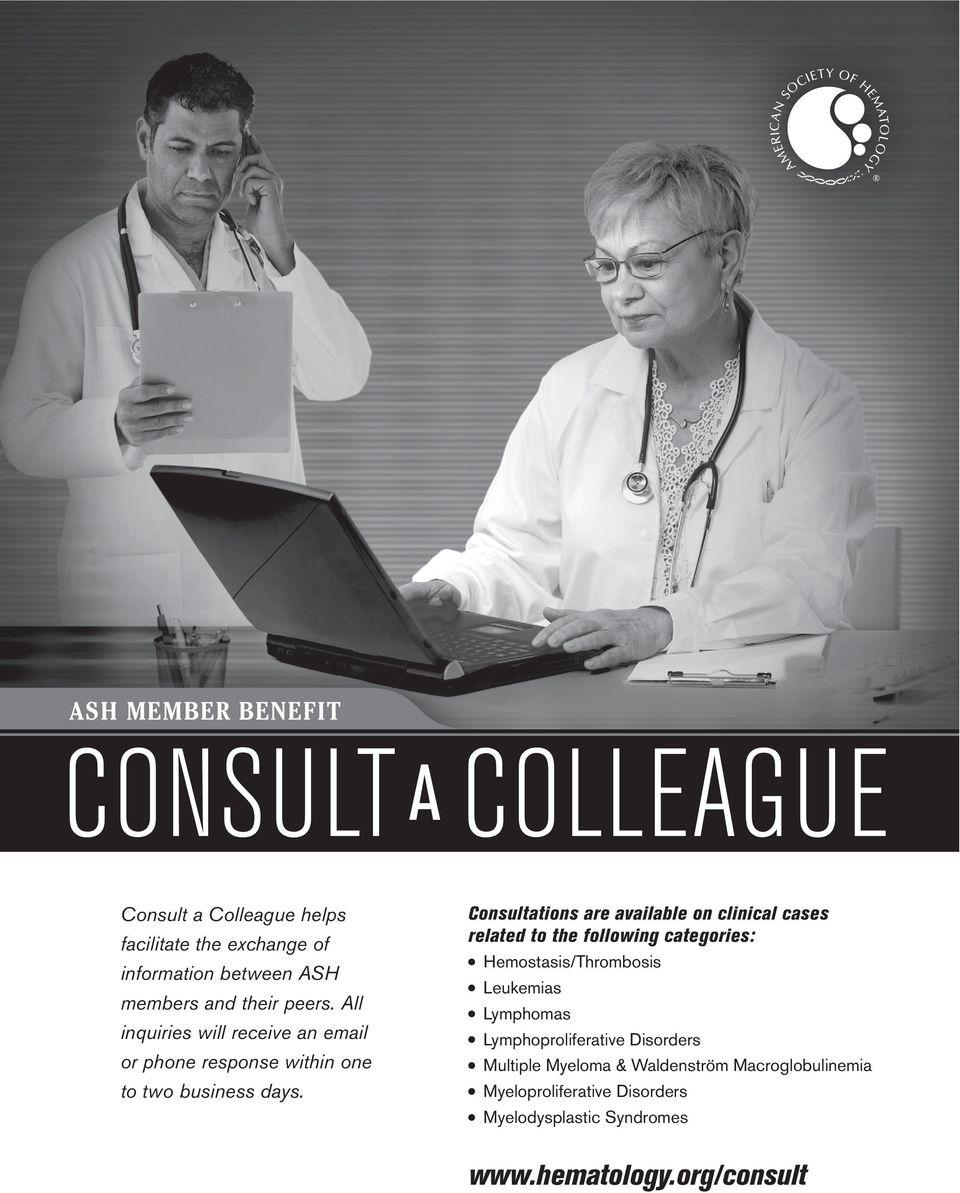 All Consultations are available on clinical cases related to the following categories: inquiries will receive an email or