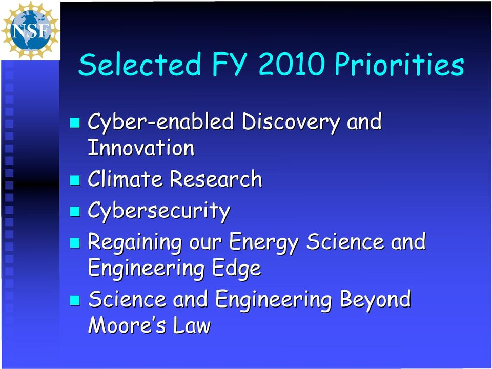 Cybersecurity Regaining our Energy Science and