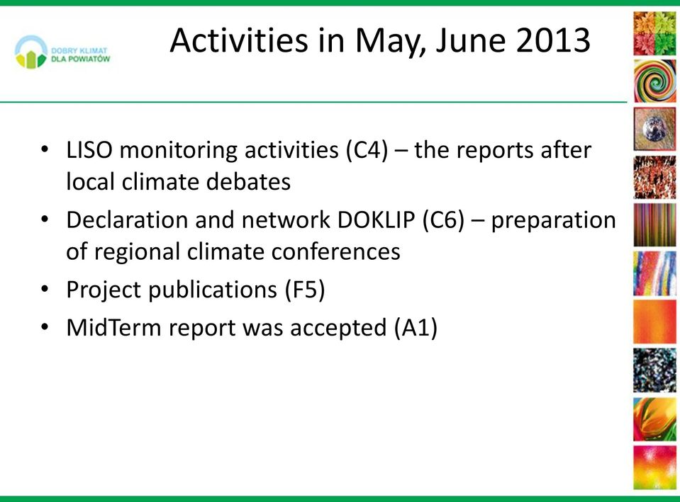 and network DOKLIP (C6) preparation of regional climate