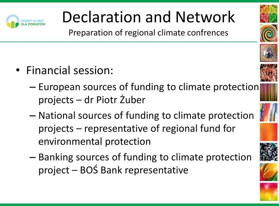 sources of funding to climate protection projects representative of regional fund for