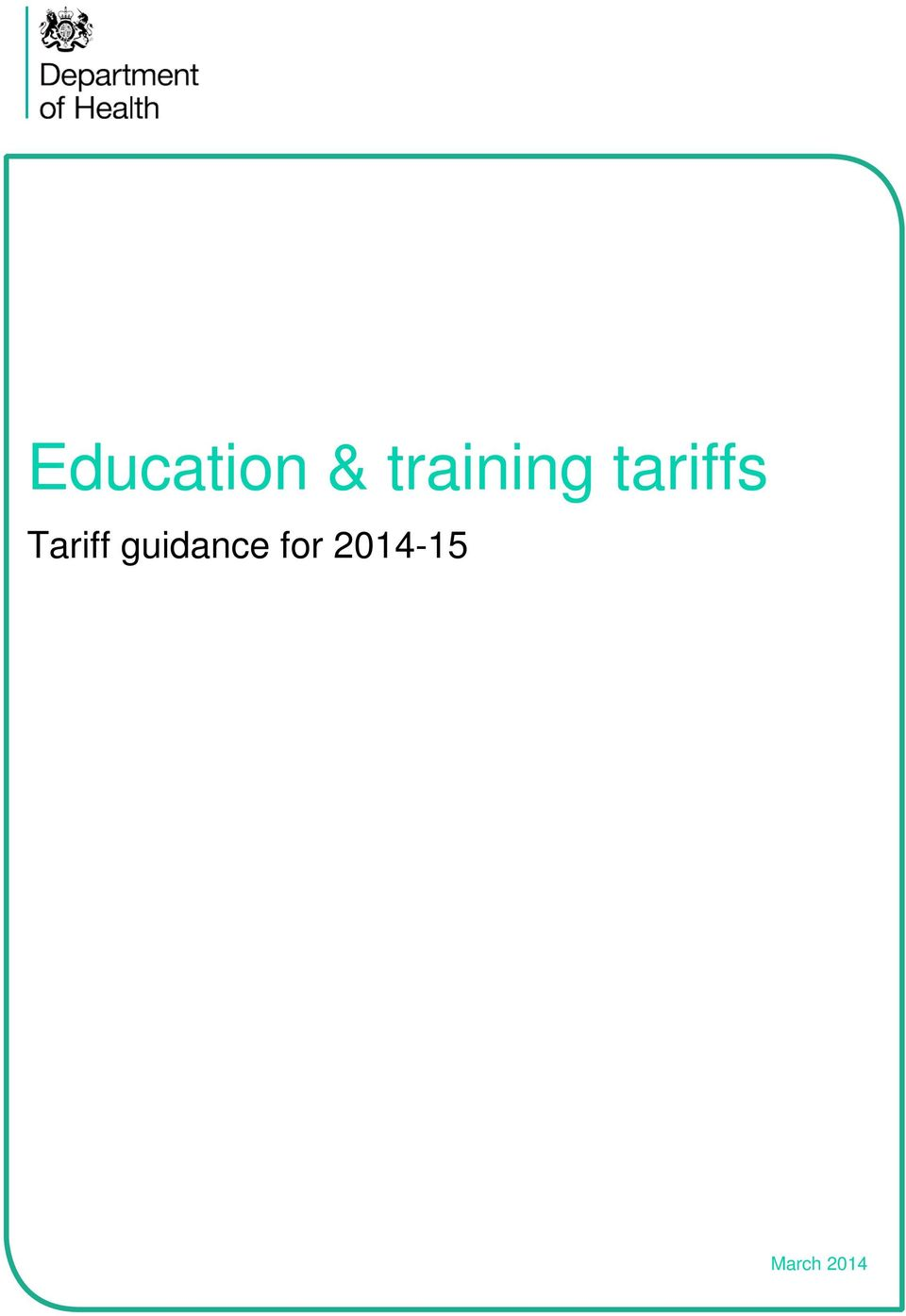 Tariff guidance