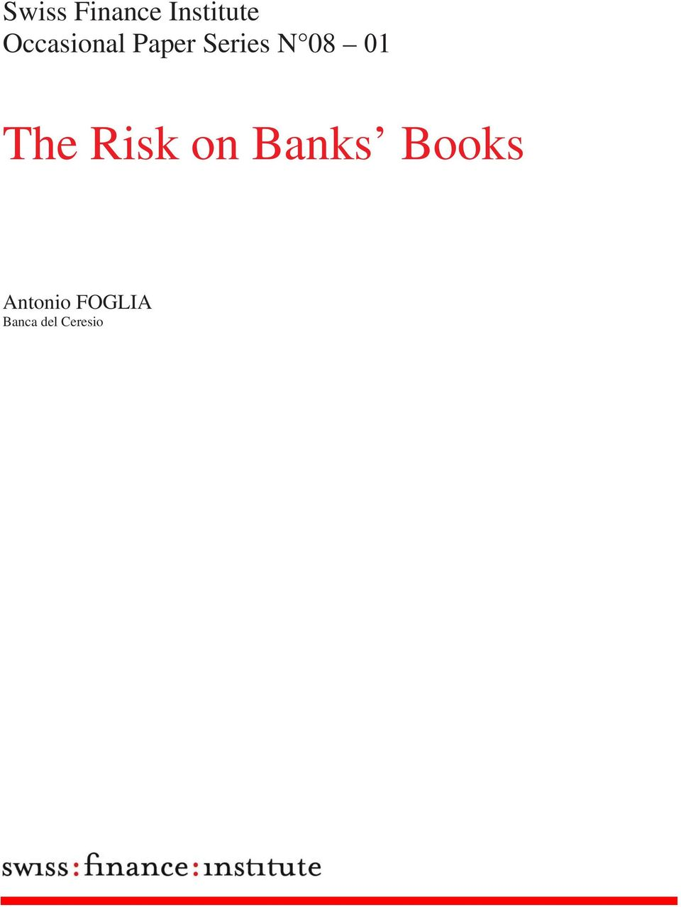 08 01 The Risk on Banks