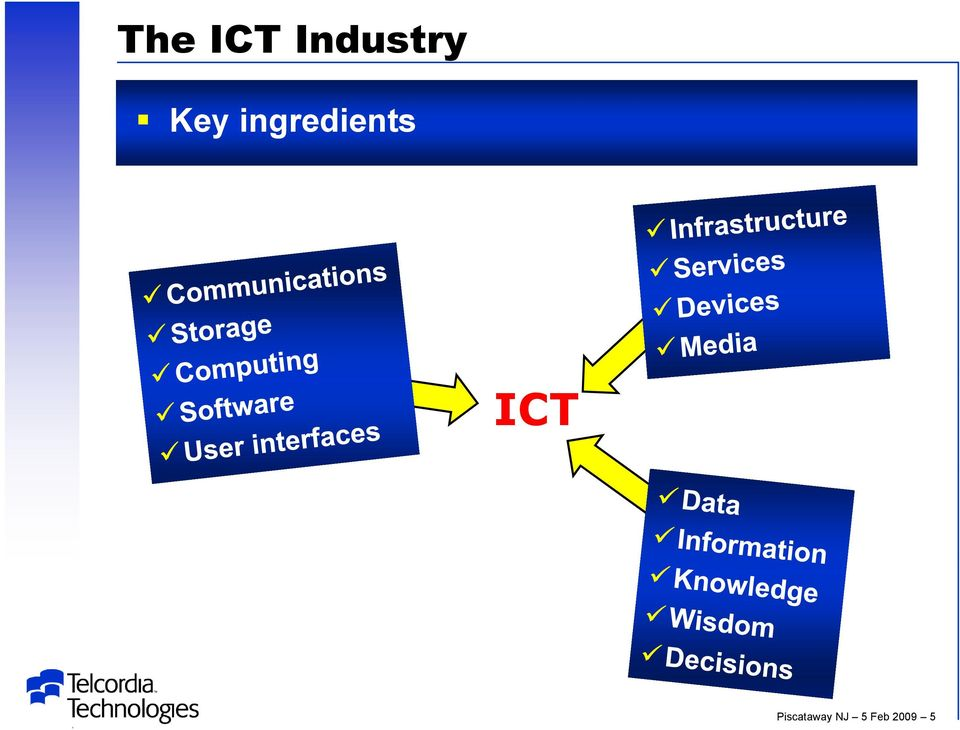 ingredients ICT