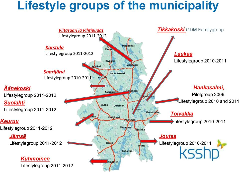 2011-2012 Suolahti Lifestylegroup 2011-2012 Keuruu Lifestylegroup 2011-2012 Jämsä Lifestylegroup 2011-2012 Hankasalmi,
