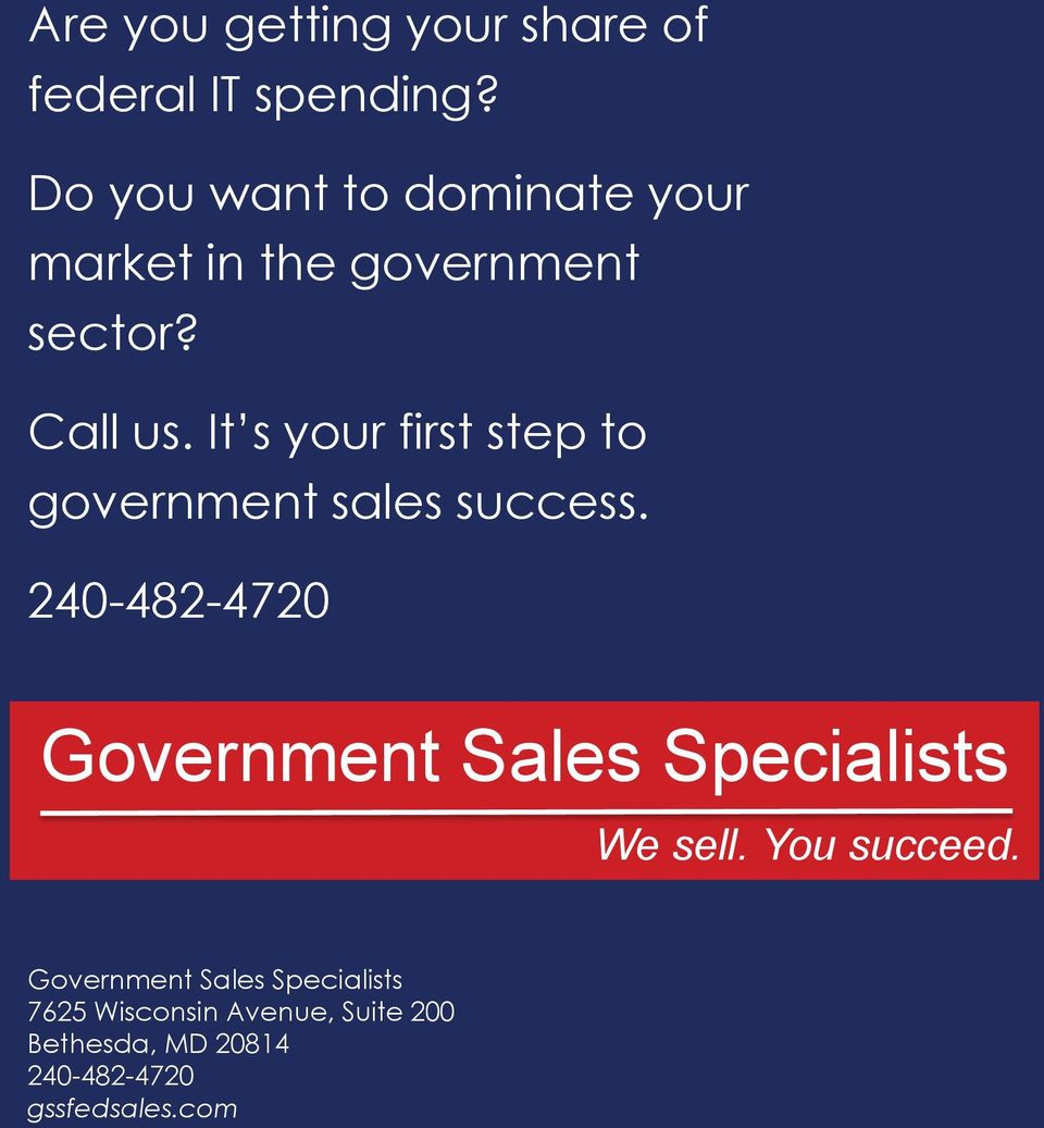 It s your first step to government sales success.