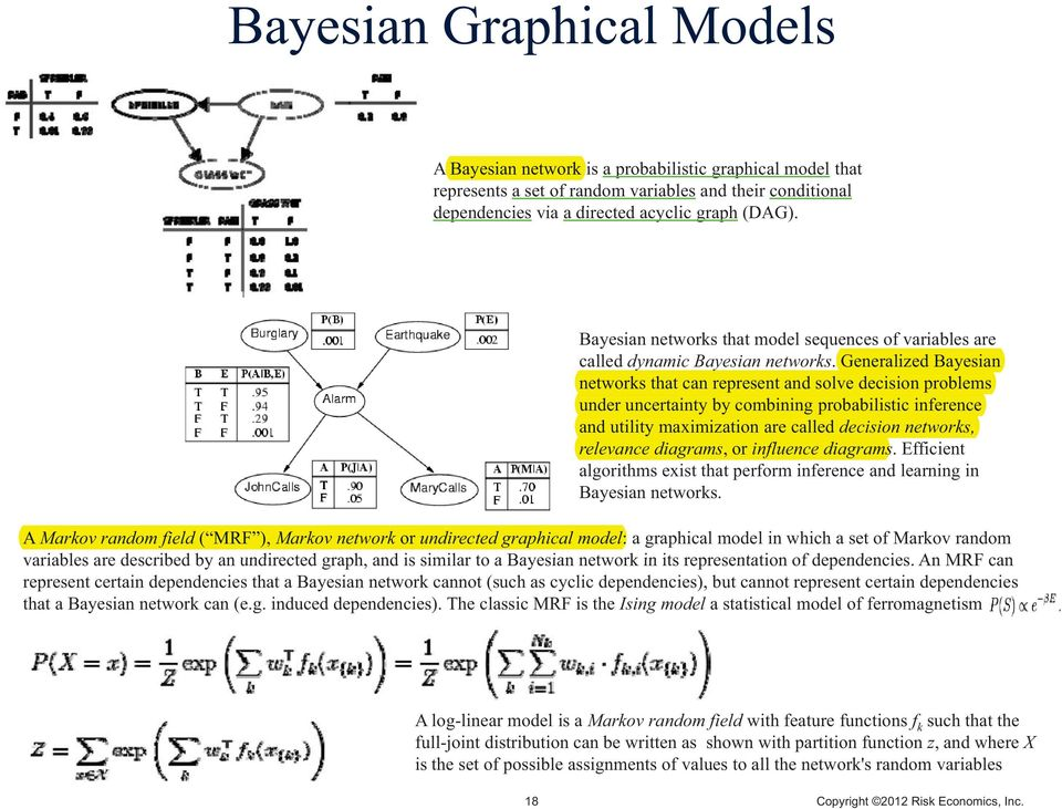 Generalized Bayesian networks that can represent and solve decision problems under uncertainty by combining probabilistic inference and utility maximization are called decision networks, relevance