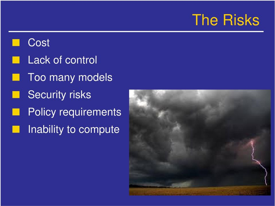 Security risks Policy