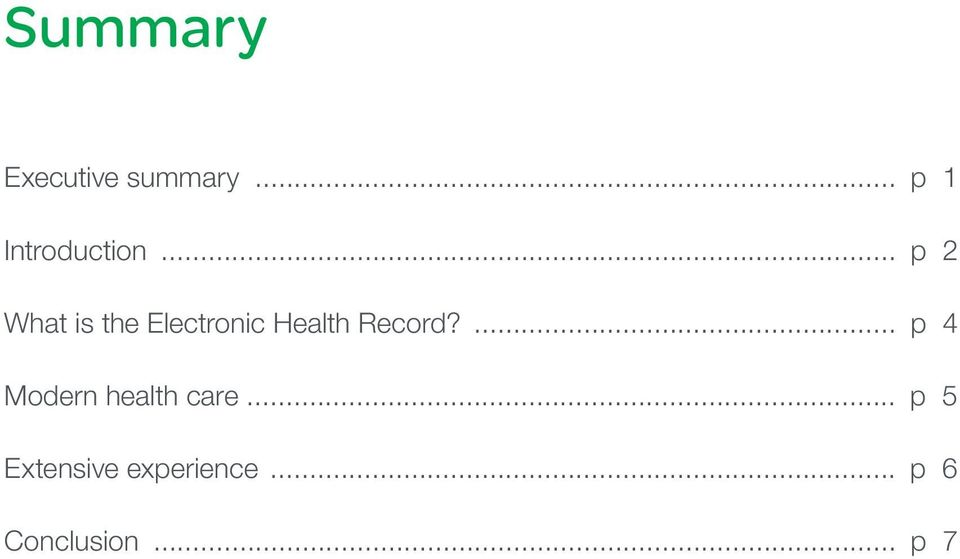 .. p 2 What is the Electronic Health Record?