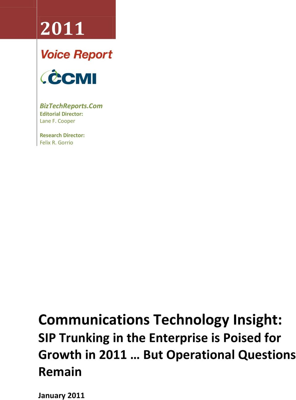 Gorrio Communications Technology Insight: SIP Trunking in