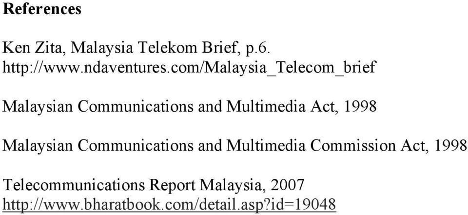 1998 Malaysian Communications and Multimedia Commission Act, 1998