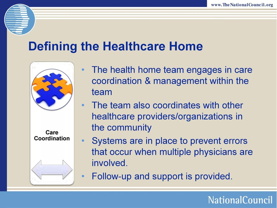 healthcare providers/organizations in the community Systems are in place to prevent