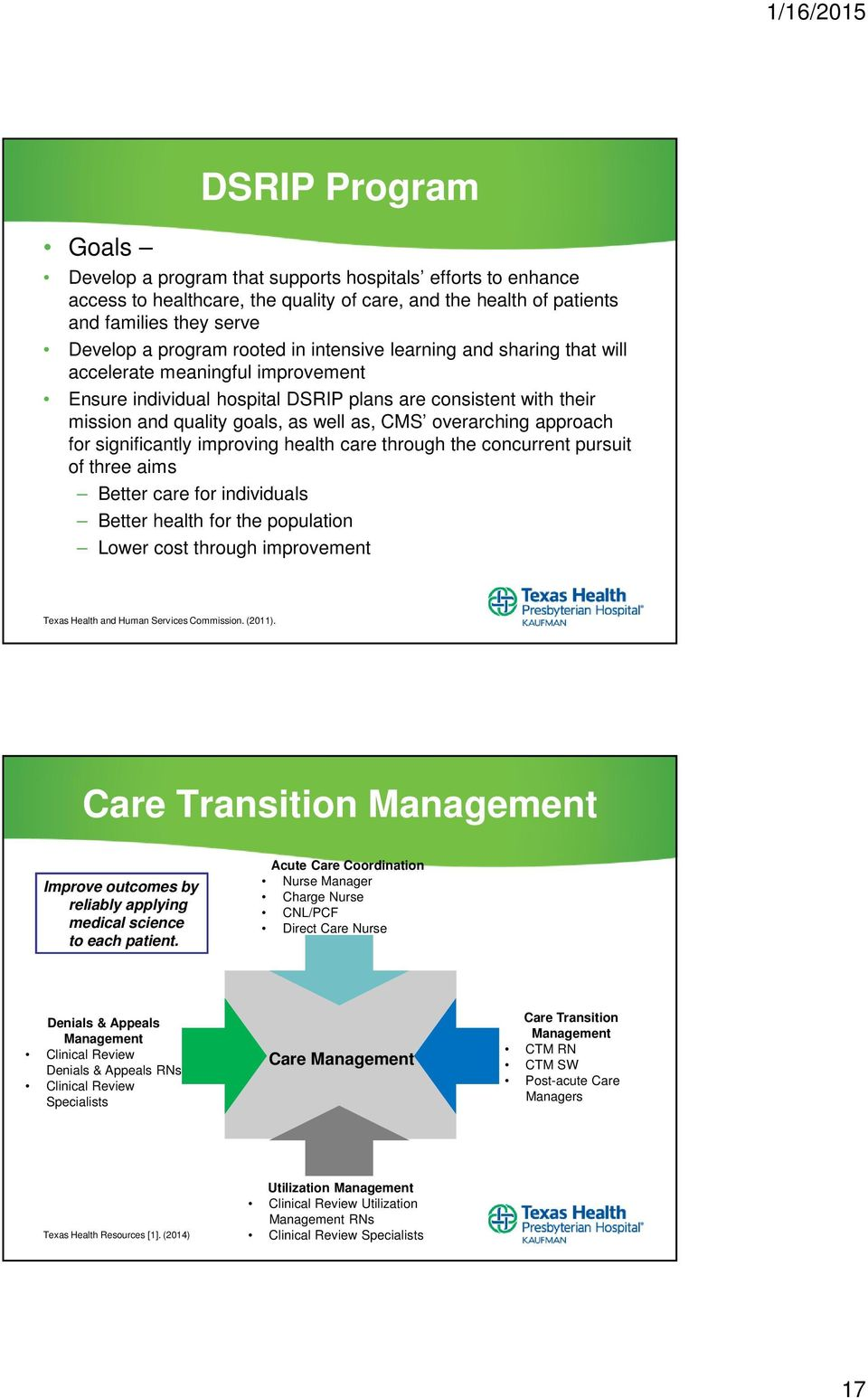 approach for significantly improving health care through the concurrent pursuit of three aims Better care for individuals Better health for the population Lower cost through improvement Texas Health