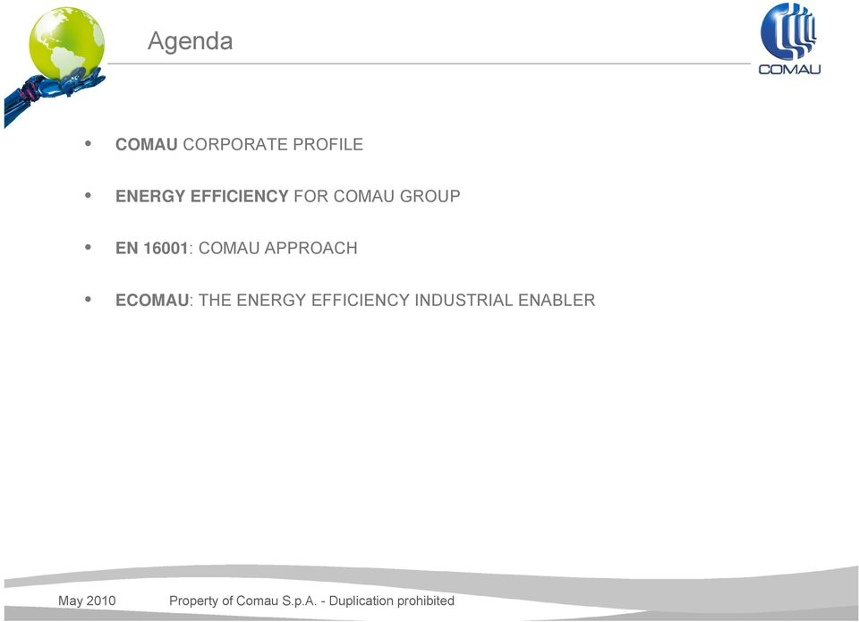 THE ENERGY EFFICIENCY INDUSTRIAL ENABLER May 2010