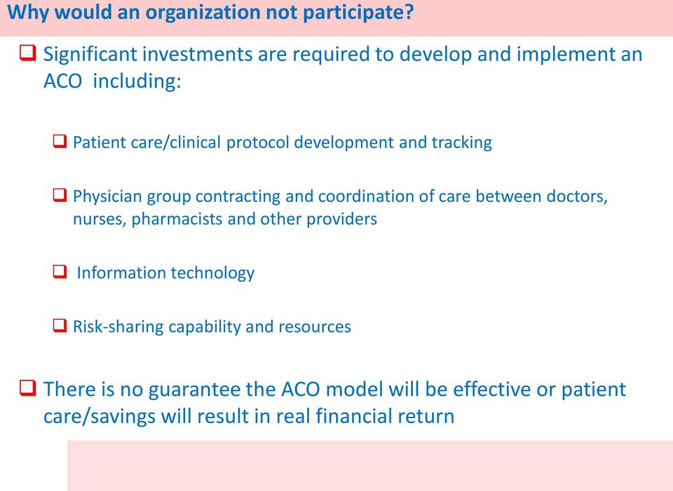 development and tracking Physician group contracting and coordination of care between doctors, nurses, pharmacists