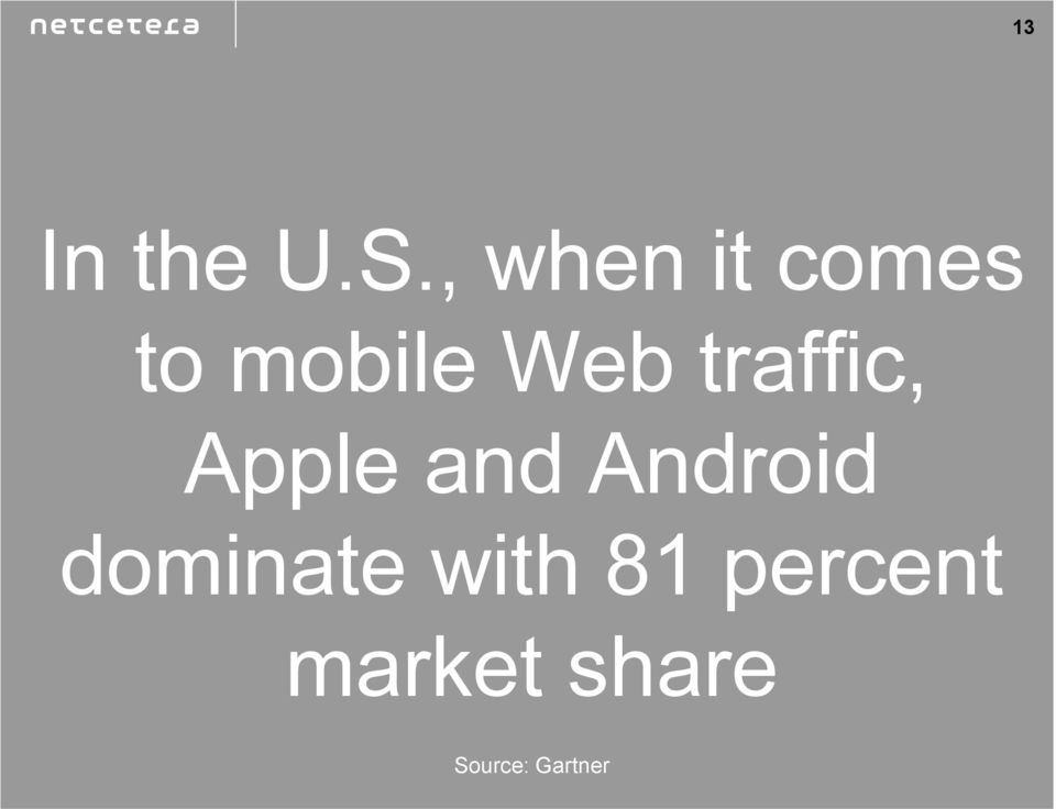 traffic, Apple and Android