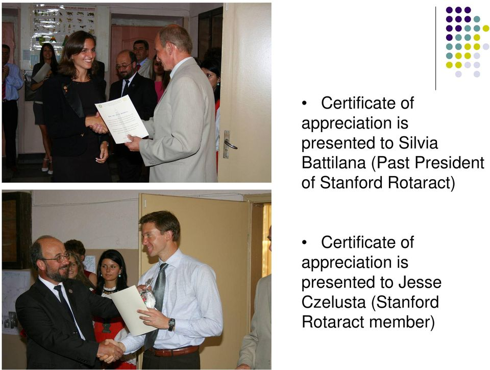 Rotaract)  Jesse Czelusta (Stanford Rotaract