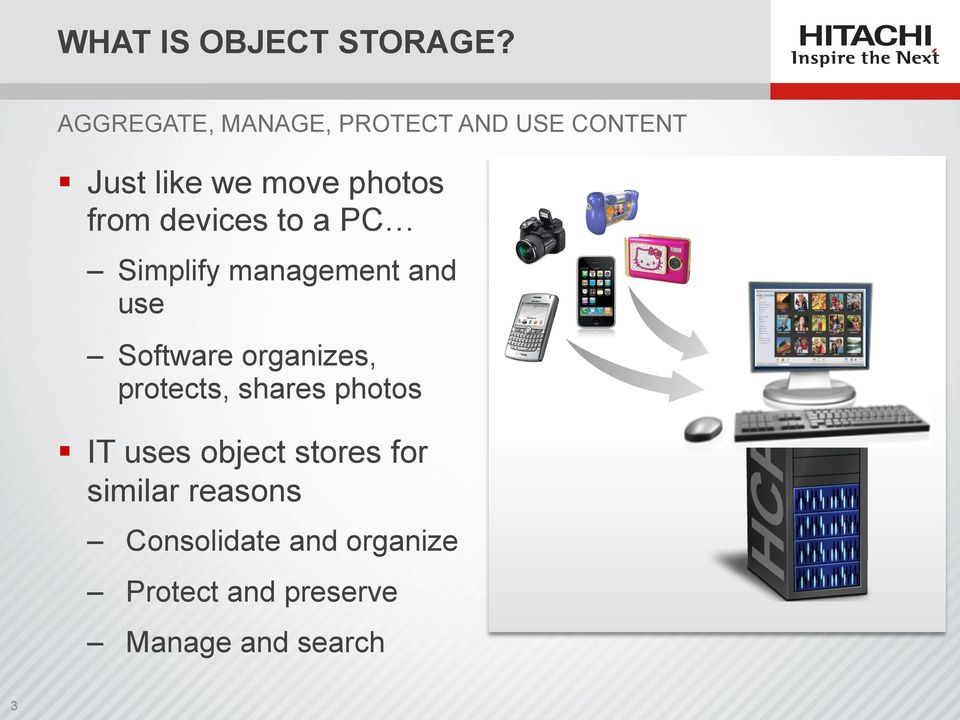 devices to a PC Simplify management and use Software organizes,