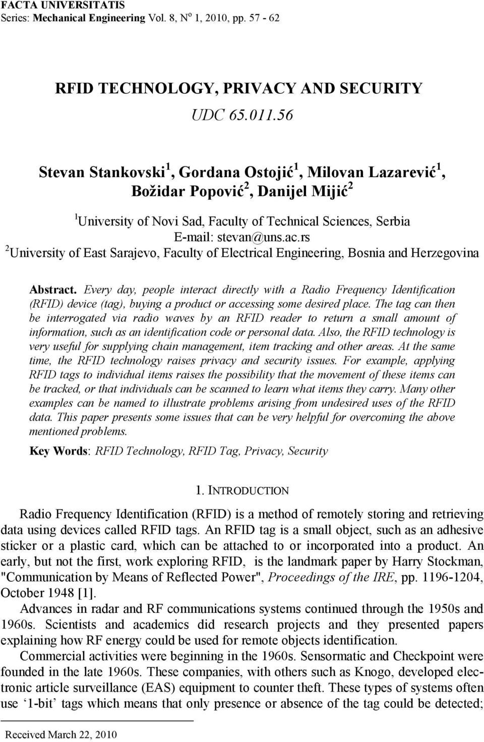 lty of Technical Sciences, Serbia E-mail: stevan@uns.ac.rs 2 University of East Sarajevo, Faculty of Electrical Engineering, Bosnia and Herzegovina Abstract.