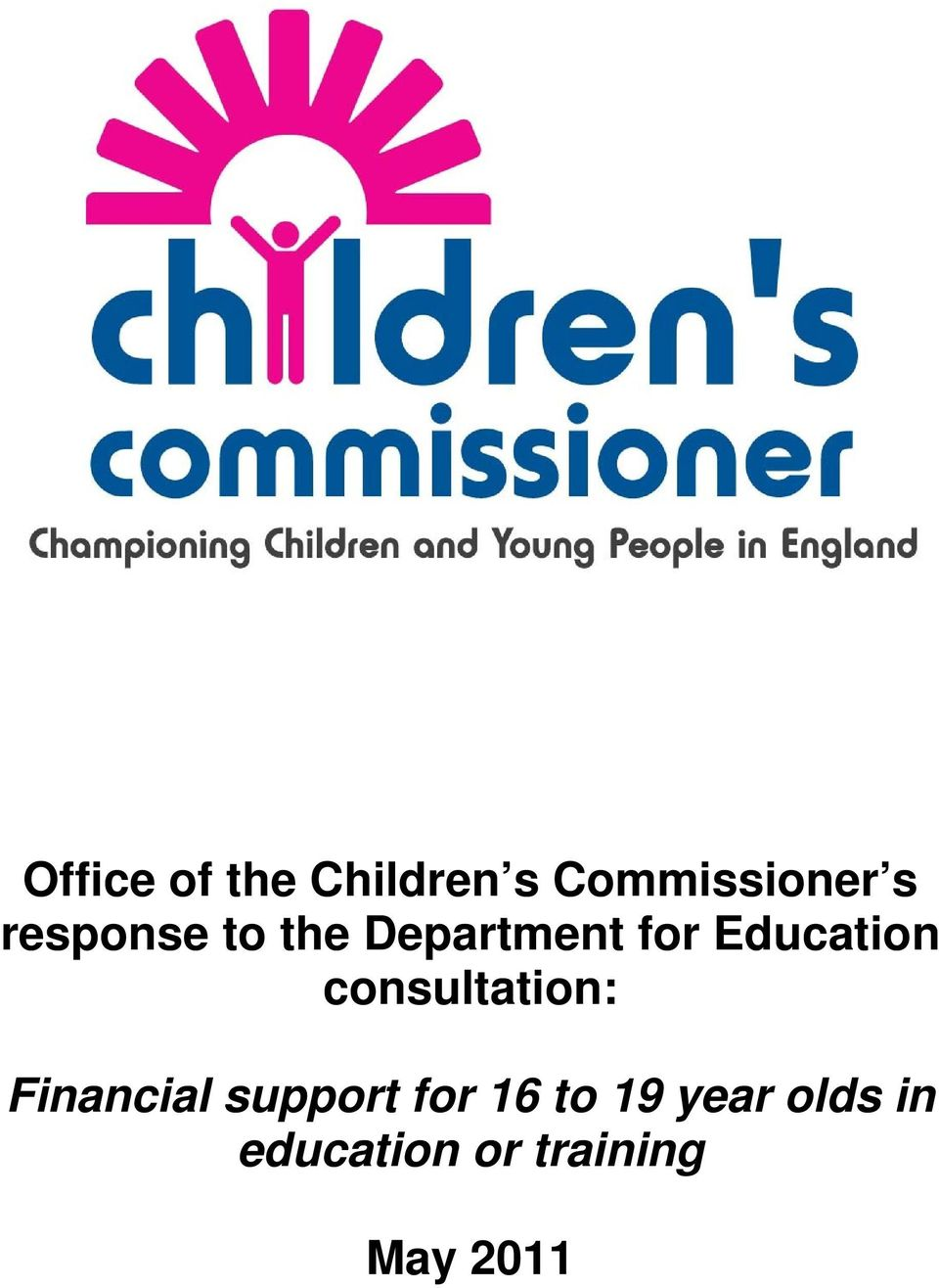 consultation: Financial support for 16 to
