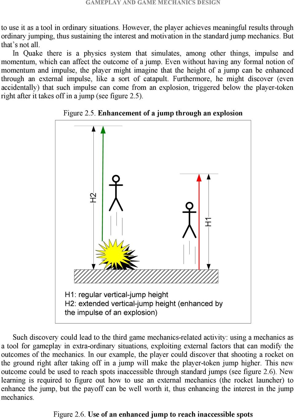 Even without having any formal notion of momentum and impulse, the player might imagine that the height of a jump can be enhanced through an external impulse, like a sort of catapult.