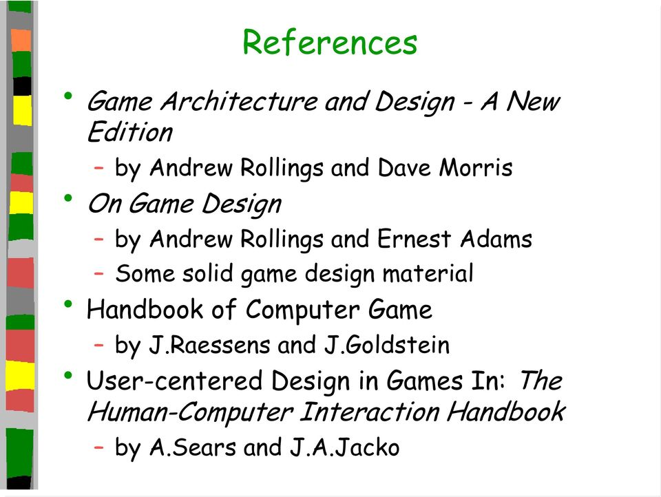 design material Handbook of Computer Game by J.Raessens and J.
