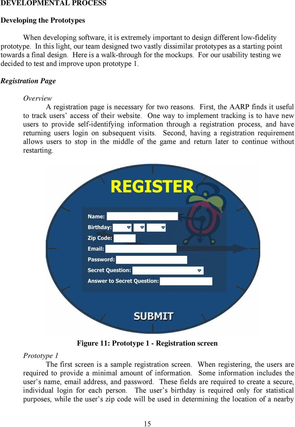 For our usability testing we decided to test and improve upon prototype 1. Registration Page Overview A registration page is necessary for two reasons.