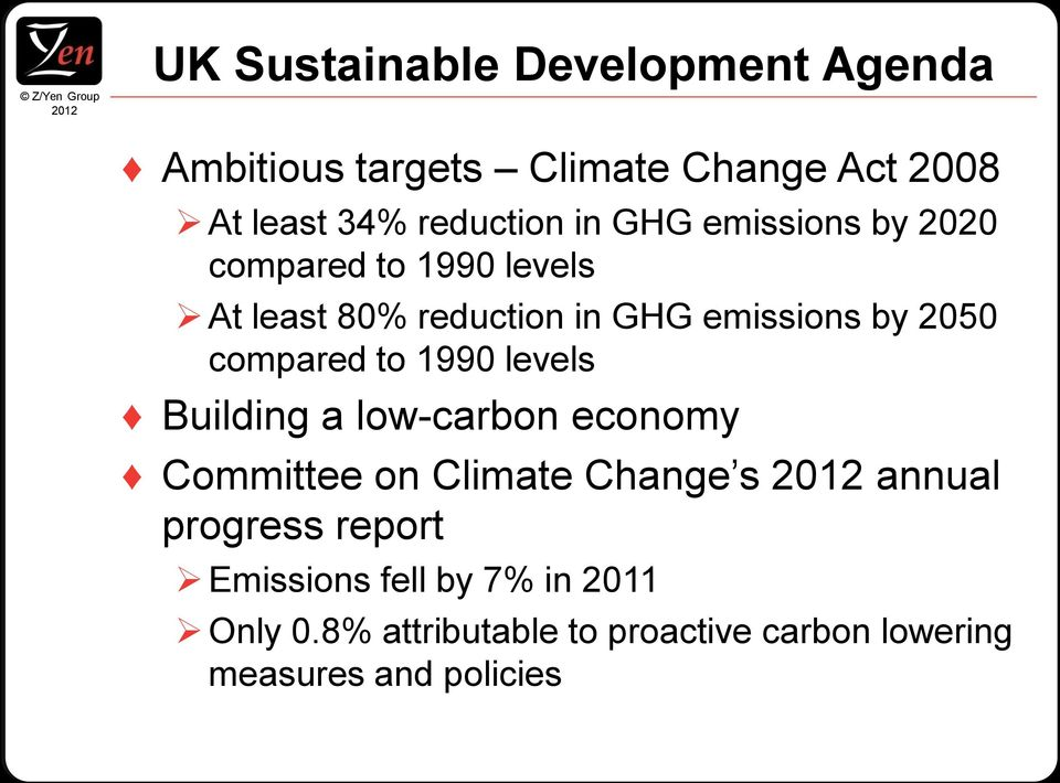 compared to 1990 levels Building a low-carbon economy Committee on Climate Change s annual progress