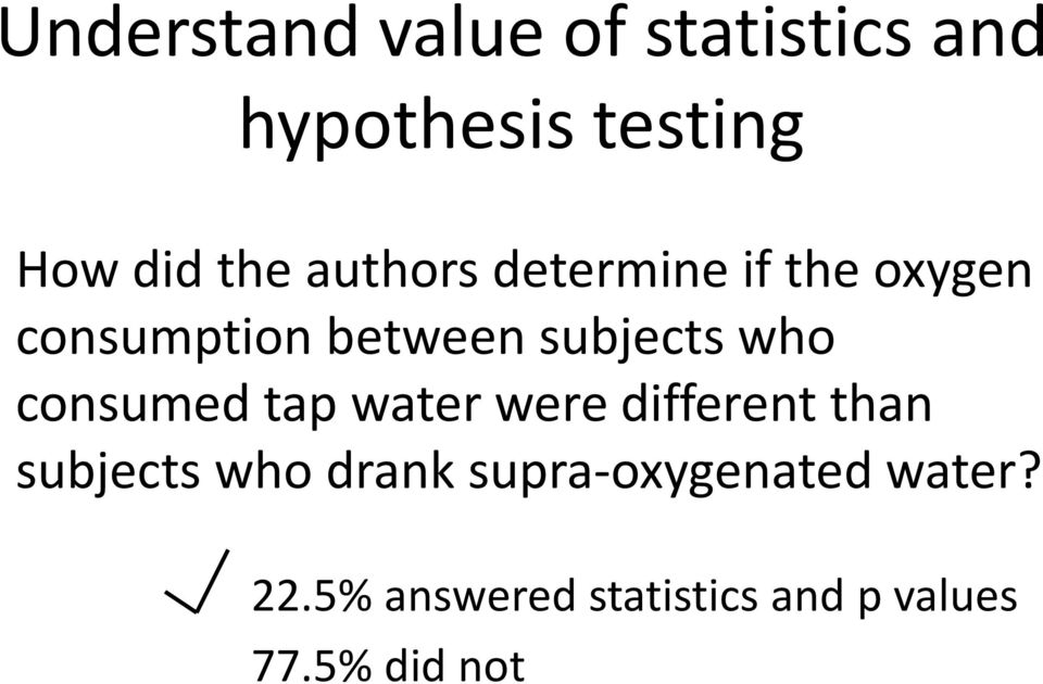 consumed tap water were different than subjects who drank