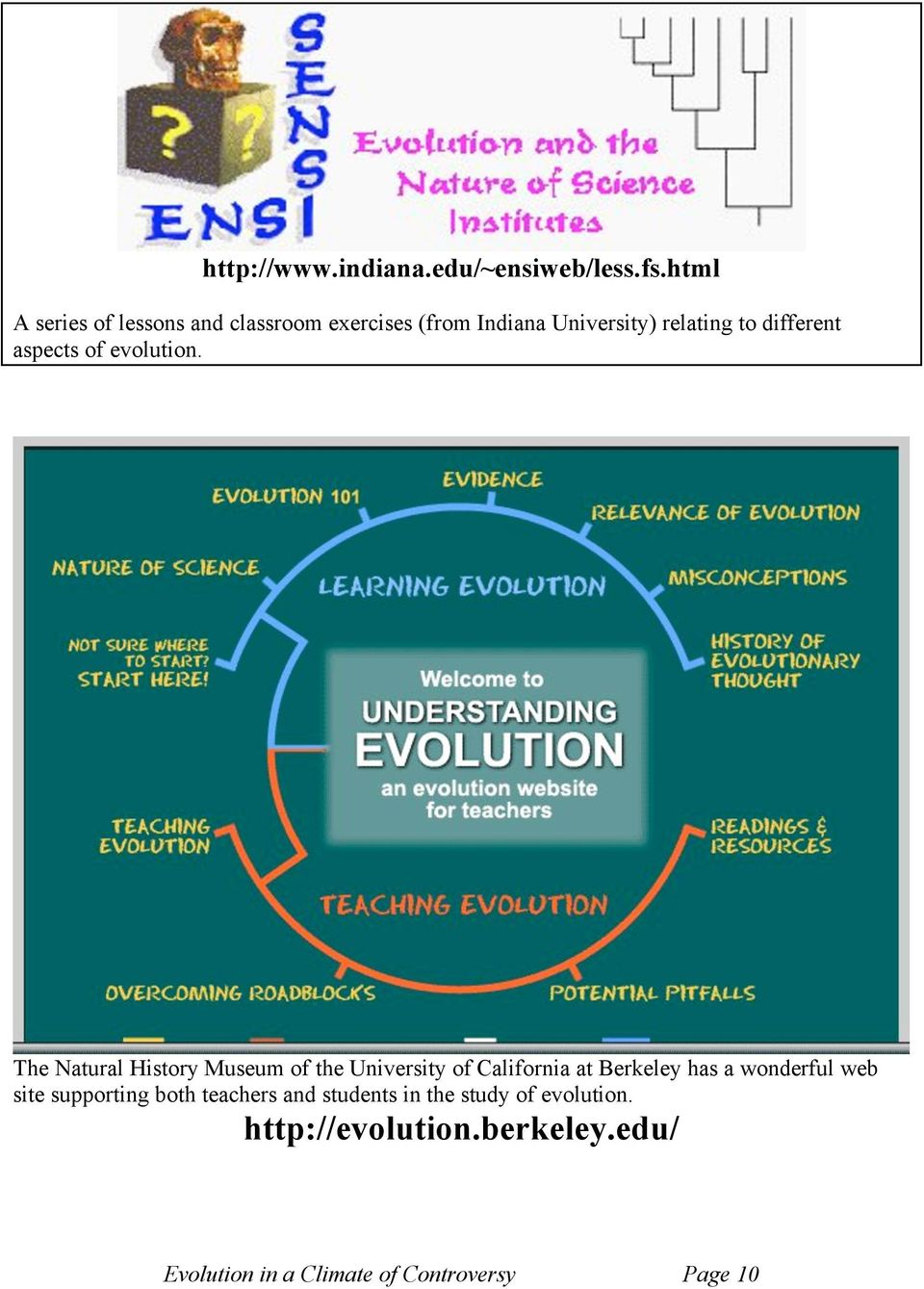aspects of evolution.