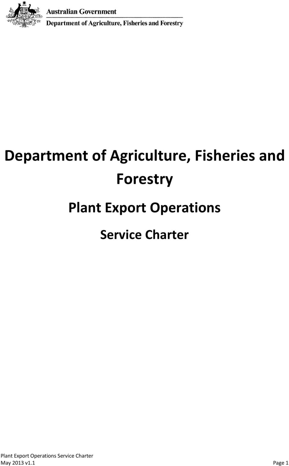 Plant Export Operations