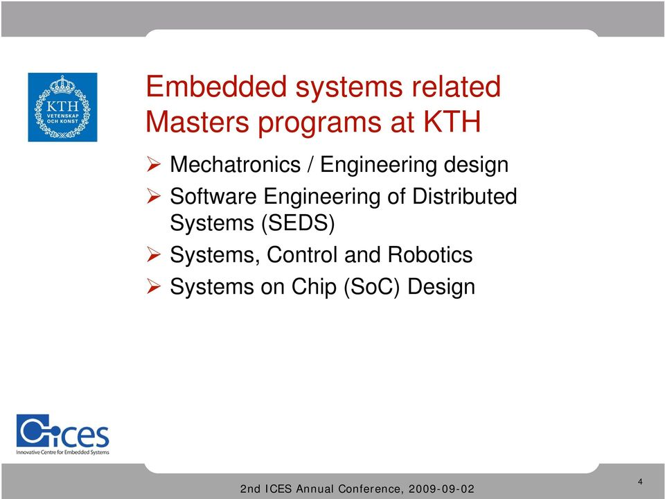 Engineering of Distributed Systems (SEDS)