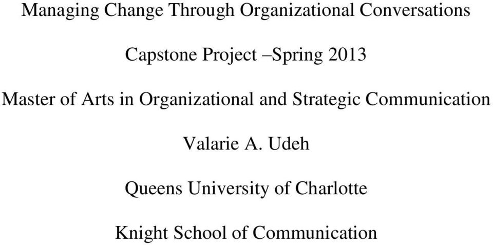 Organizational and Strategic Communication Valarie A.