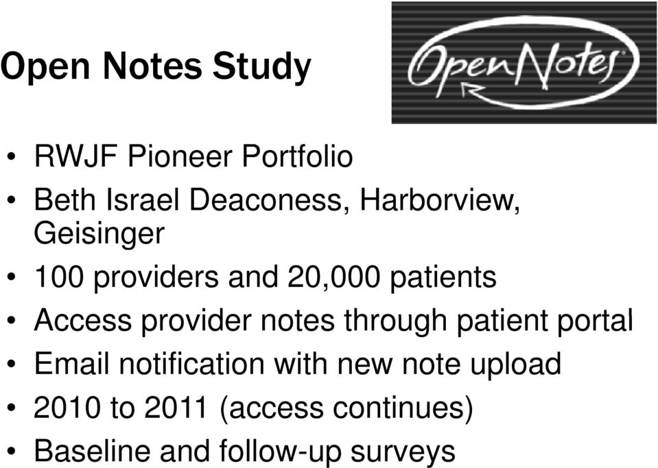 provider notes through patient portal Email notification with new