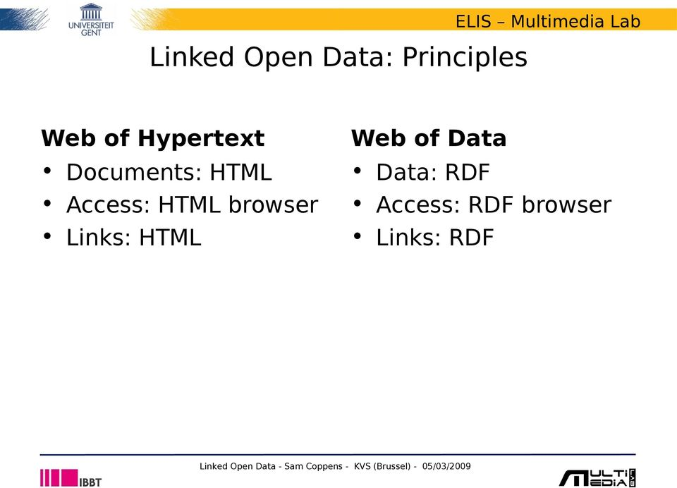 HTML browser Links: HTML Web of Data