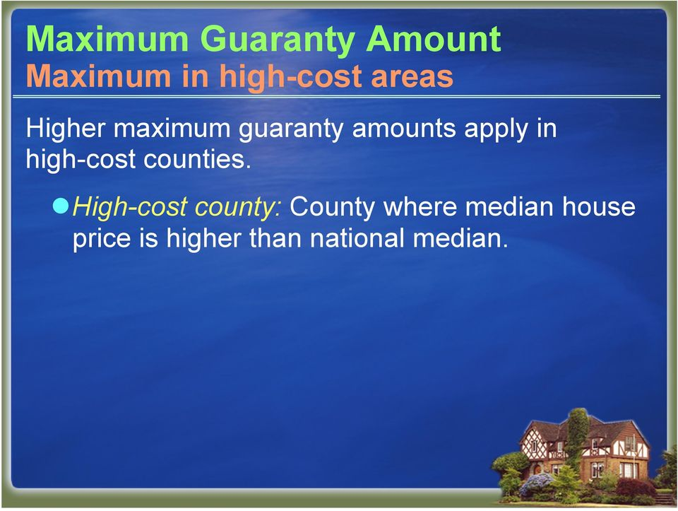 high-cost counties.