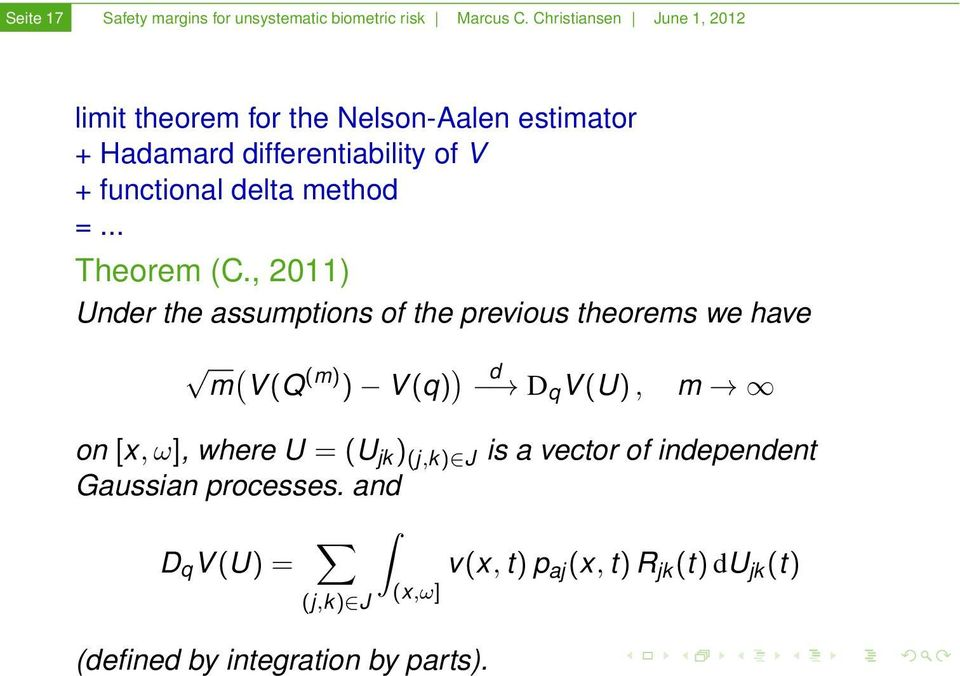 method =... Theorem (C.