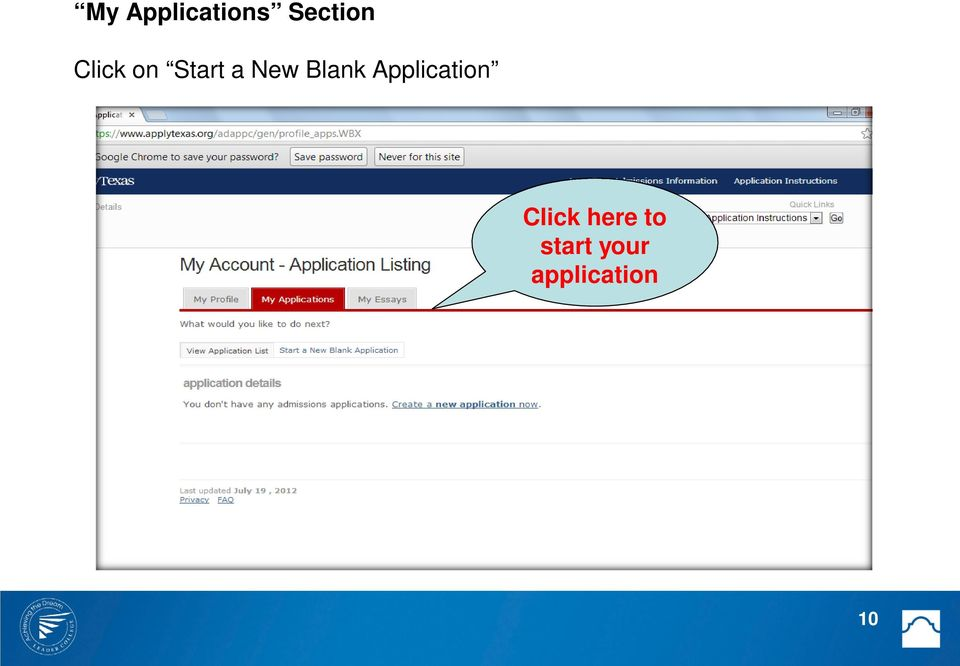Blank Application Click